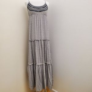 American Eagle Outfitters Tiered Maxi Dress D12